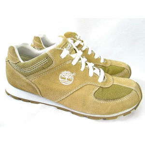 TIMBERLAND Tan Suede Leather Mesh Hiking Shoes 8.5